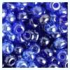 Ponybead 2/0 Blue Sapphire Lustered Mix